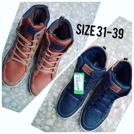 Boys Leather Hitops - Size 31-39