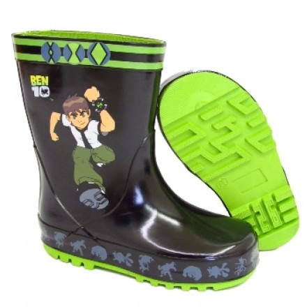 BEN 10 WELLINGTON BOOTS - UK SIZE 6-12)