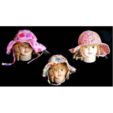 Baby Plus Floral Cotton Baby Sun Hat- 3 designs (0-18mths)