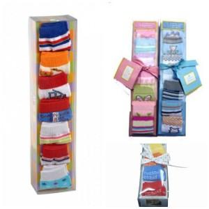 7 pack baby Socks (Gift pack)- baby girl, baby boy