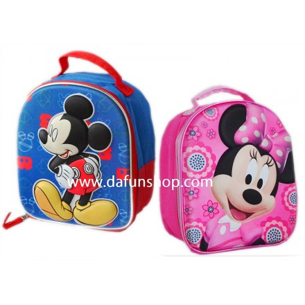 3d Mickey & Minnie Insulated Lunch bags- 2 designs