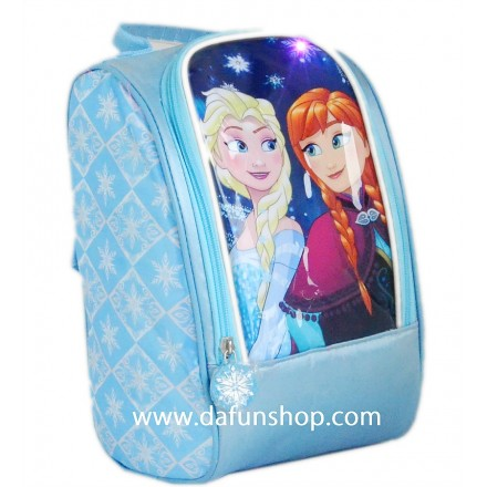 3d Frozen Girls Large LIGHT-UP Lunch bag with backstraps