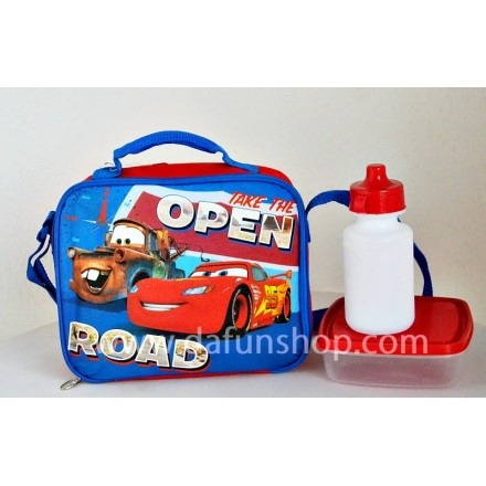 Boys Insulated Lunch bags with Plate and Bottle- Cars, Jake