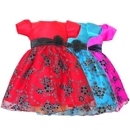 Alexandra Red Special Occassion Sparkle Dress- 2yrs