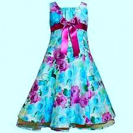 Ashley Ann Girls Shantung Dress Sash With Bow- 4T