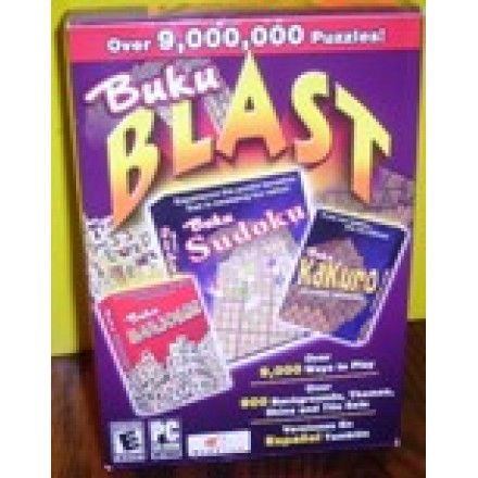 Buku Blast 9000 PC Games (SUDOKU, MAHJONG, KAKURO 3 CD Set)