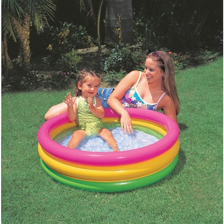 "Intex Sunset Glow Baby 3-ring Pool- 34"" x 10"""