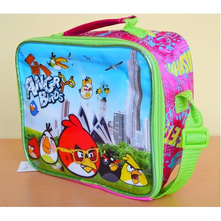 Angry Birds Rectangular Lunch bag with strap- REDUCED