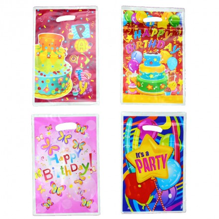 Happy Birthday Party loot bags- pack of 10- assorted