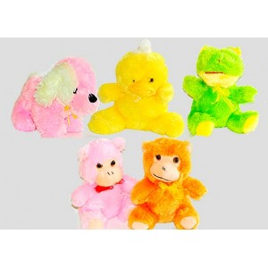 9 Inches Cute Plush Animal Teddies- Dog, Monkey, Frog