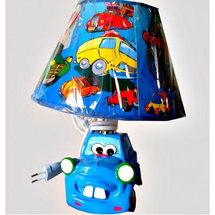 Assorted Bedroom Lamps- Cars, Vegetable