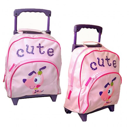 "Cute Pink Girl's 13"" Mini Trolley"